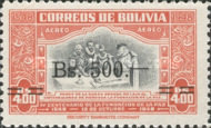 [Airmail - Currency Revaluation - Founding of La Paz stamps of 1951 Surcharged, Typ FV3]