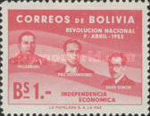 [The 1st Anniversary of the Revolution of April 9th, 1952 - Villarroel, Paz Estenssoro and Siles Zuazo, Typ HS1]