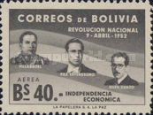 [The 1st Anniversary of the Revolution of April 9th, 1952 - Villarroel, Paz Estenssoro and Siles Zuazo, Typ HS10]