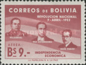 [The 1st Anniversary of the Revolution of April 9th, 1952 - Villarroel, Paz Estenssoro and Siles Zuazo, Typ HS7]