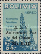 [Airmail Stamps - The 25th Anniversary of the Chaco Peace Settlement, Surcharged