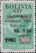 [Airmail - The 25th Anniversary of the Bolivian Motor Club, Surcharged