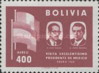 [Airmail - Visit of the Mexican President to Bolivia, type IF3]