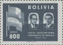 [Airmail - Visit of the Mexican President to Bolivia, type IF4]