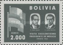 [Airmail - Visit of the Mexican President to Bolivia, type IF5]