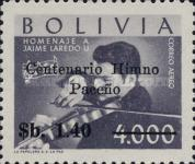 [Airmail - The 100th Anniversary of the Hymn La Paz, Surcharged