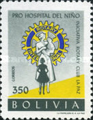 [Founding of Children's Hospital by La Paz Rotary Club, type IO]