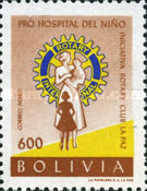 [Airmail - Founding of Children's Hospital by La Paz Rotary Club, type IO4]