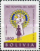 [Airmail - Founding of Children's Hospital by La Paz Rotary Club, type IO6]