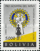 [Airmail - Founding of Children's Hospital by La Paz Rotary Club, type IO7]