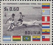 [The 21st South American Football Championships, La Paz, type LO]