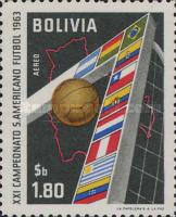 [The 21st South American Football Championships, La Paz, type LS]