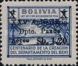 [Airmail - The 25th Anniversary of the Pando Department, Surcharged