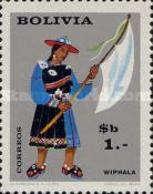 [The 9th Congress of the UPAE, Postal Union of the Americas and Spain, Bolivian Folklore, Typ MP]