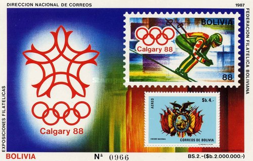 [Airmail - Winter Olympic Games - Calgary, Canada, type RB6]