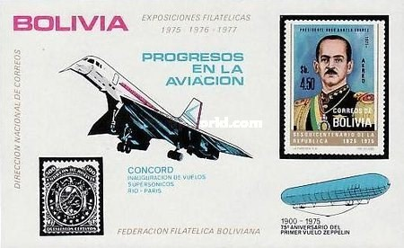 [Stamp Exhibitions 1975-1977 - Aviation, Concorde and Zeppilin, type XBB]