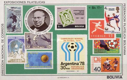 [Airmail - The 100th Anniversary of the Death of Rowland Hill & Football World Cup - Argentina '78, Typ XGC]