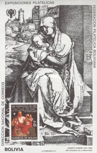 [International Year of the Child & the 450th Anniversary of the Death of Albrecht Durer, Typ XGE]