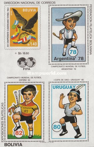 [Football World Cup - Argentina '78 & Spain '82 & Gold Cup, Uruguay, Typ XIA]
