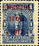 [Revenue Stamp Surcharged, type XXT2]