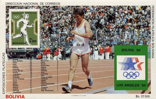 [Olympic Games - Los Angeles '84, USA - Medal Table, type ZAL]