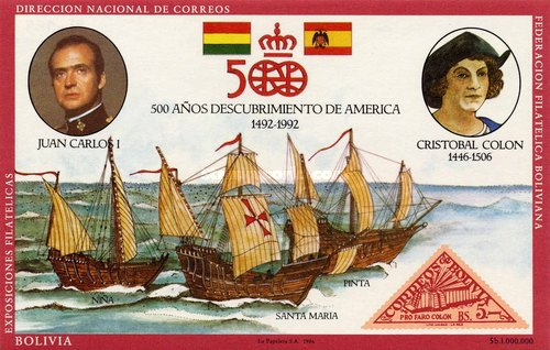 [The 500th Anniversary of the Discovery of America, type ZAU]