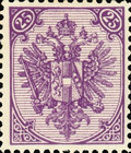 [Eagle - Lithographed. All 3 Eaglets on Right Side of Escutcheon are Blank, Typ AAA10]