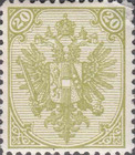 [Eagle - Lithographed. All 3 Eaglets on Right Side of Escutcheon are Blank, Typ AAA9]