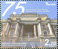 [The 75th Anniversary of the Sarajevo University Faculty of Law, type AHB]