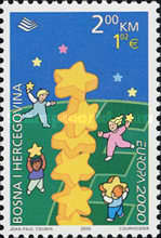 [EUROPA Stamps - Tower of 6 Stars, Typ GJ]