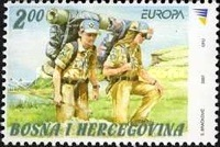 [EUROPA Stamps - The 100th Anniversary of Scouting, type PW]