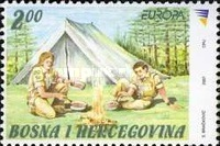 [EUROPA Stamps - The 100th Anniversary of Scouting, type PX]