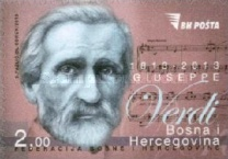 [The 200th Anniversary of the Birth of Guiseppe Verdi, 1813-1901, Typ VK]