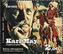 [The 175th Anniversary of the Birth of Karl May, 1842-1912, Typ YQ]