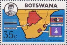 [The 10th Anniversary of University of Botswana, Lesotho and Swaziland, Typ DE]