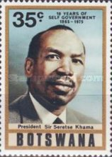 [The 10th Anniversary of Self-Government - President Sir Seretse Khama, Typ EE]