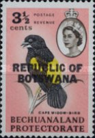 """[Betschuanaland Postage Stamps Overprinted """"REPUBLIC OF BOTSWANA"""", type H]"""