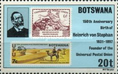 [The 150th Anniversary of the Birth of Heinrich von Stephan (Founder of Universal Postal Union), type JC]