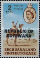 """[Betschuanaland Postage Stamps Overprinted """"REPUBLIC OF BOTSWANA"""", type R]"""