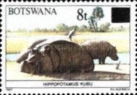 [Animals of Botswana Stamps of 1987 Surcharged, type SL]