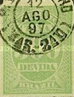 [Numeral Stamps, type A13]