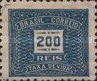 [Numeral Stamps, type D34]