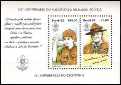 [The 125th Anniversary of the Birth of Lord Baden Powell, 1857-1941 and the 75th Anniversary of the Boy Scout Movement, type ]