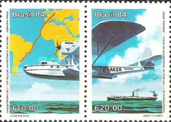 [The 50th Anniversary of the First Trans-Oceanic Air Route, type ]