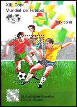 [Football World Cup, Mexico and Brazilian-Portuguese Stamp Exhibition