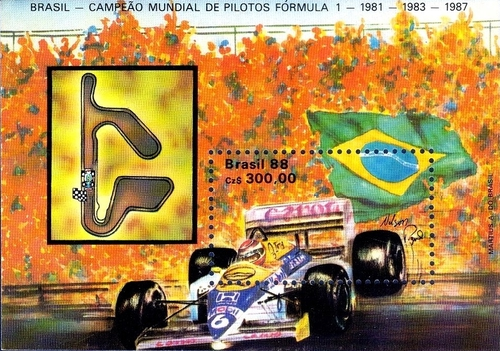 [Nelson Piquet's Third Formula One Motor Racing World Championship Title, 1987, type ]