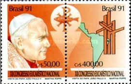 [Papal Visit and the 12th Anniversary of the National Eucharistic Congress, Natal, type ]