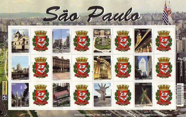 [Views of São Paulo - Personalized Stamps, type ]