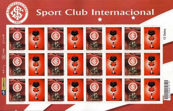 [The 100th Anniversary of Sport Club International - Personalized Stamp, type ]
