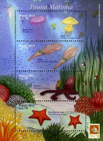 [Marine Life - International Stamp Exhibition PHILANIPPON 2011 - Yokohama, Japan, type ]